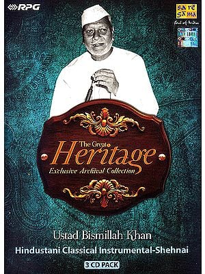 The Great Heritage: Exclusive Archival Collection Ustad Bismillah Khan: Hindustani Classical Instrumental-Shehnai (Set of 3 Audio CDs)