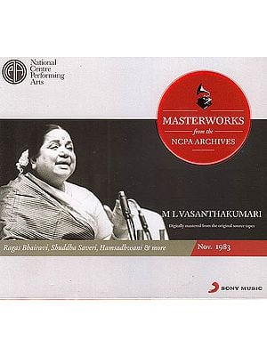 M L Vasanthakumari: Masterworks from the NCPA Archives (Audio CD)