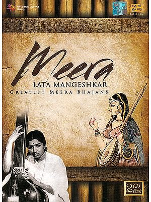 Greatest Meera Bhajans by Lata Mangeshkar (Two Audio CDs)