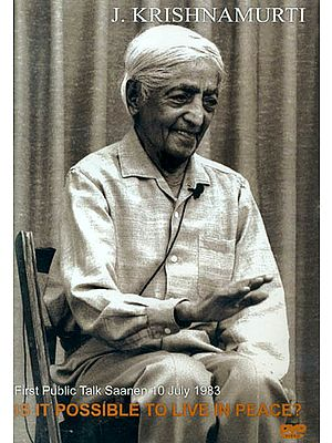 J. Krishnamurti: Is it Possible to Live in Peace? (DVD)