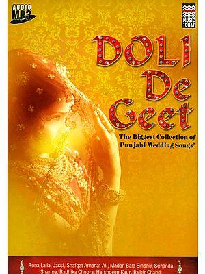 Doli De Geet (The Biggest Collection of Punjabi Wedding Songs') (Audio MP3 CD)