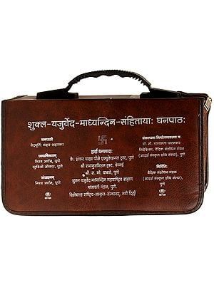 शुक्ल यजुर्वेद माध्यन्दिन संहितायां घनपाठ: Shukla Yajurveda Madhyandina Samhita Ghanapatha (Set of 90 DVDs)