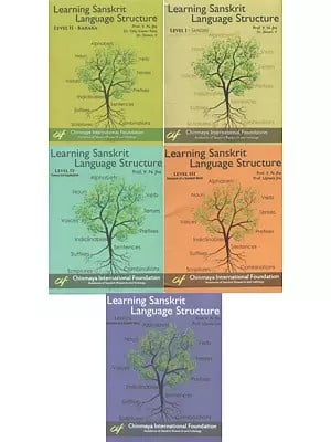 Learning Sanskrit Language Structure (Set of 5 Level with 89 DVDs)