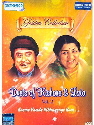 "Duets of Kishore and Lata ""Kasme Vaade Nibhayenge Hum.."" : Golden Collection) (Vol. 2): Original Videos of Hindi Film Songs (DVD)"