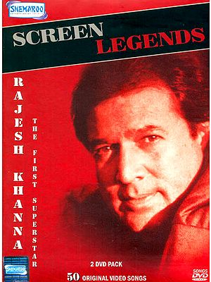 "Screen Legends ""Rajesh Khanna"" (The First Superstar) (Set of 2 DVDs): Original Videos of Hindi Film Songs"