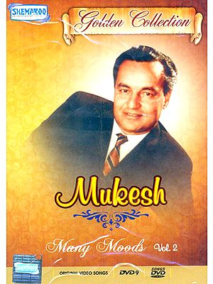 """Mukesh """"Many Moods"""": Golden Collection(Vol. 2): Original Videos of Hindi Film Songs (DVD)"""