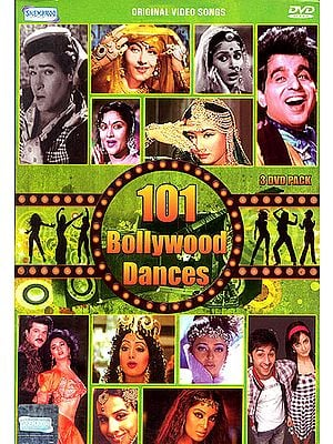 101 Bollywood Dances: Original Video Songs (Set of 3 DVDs)