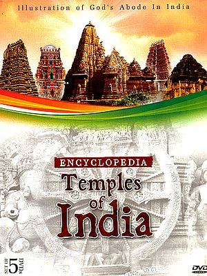 "Encyclopedia – Temples of India ""Illustration of God's Abode in India"" (Set of 5 DVDs)"