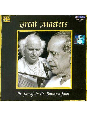 Great Masters (Pt. Jasraj and Pt. Bhimsen Joshi) (Audio CD)