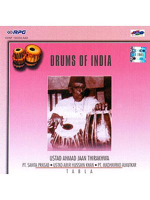Drums of India (Ustad Ahmad Jaan Thirakhwa - Tabla) (Audio CD)