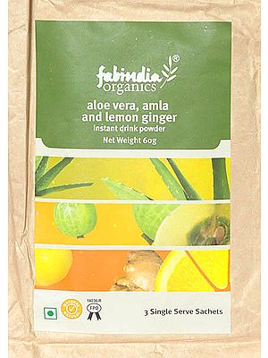 Aloe Vera, Amla and Lemon Ginger Instant Drink Powder (Price per Two Packs)