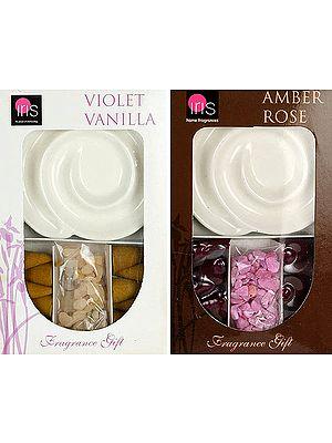 Amber Rose & Violet Vanilla (Fragrance Gift)