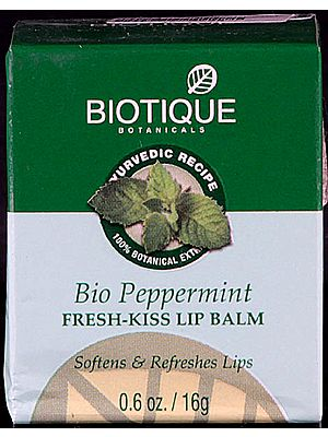 Bio Peppermint Fresh-Kiss Lip Balm Softens & Refreshes Lips (100% Botanical Extracts)