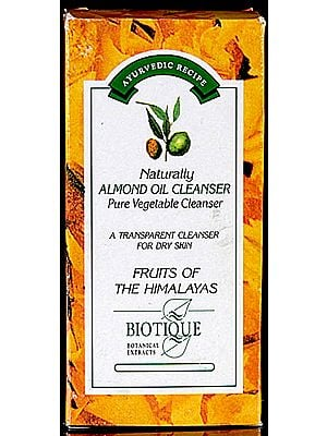 Naturally Almond Oil Cleanser Pure Vegetable Cleanser A Transparent Cleanser For Dry Skin Fruits of The Himalayas