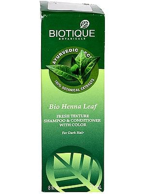 Bio Henna Leaf Fresh Texture Shampoo & Conditioners with Color for Dark Hair