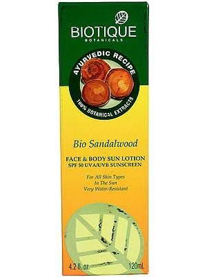 Bio Sandalwood Face & Body Sun Lotion SPF 50 UVA/UVB Sunscreen
