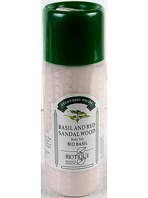 Basil and Red Sandal Wood Body Talc Bio Basil