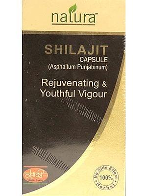 Shilajit Capsule (Asphaltum Punjabinum) Rejuvenating & Youthful Vigour (30 Capsules)