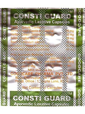 Consti Guard: Ayurvedic Laxative Capsules (Each Strips 10 Capsules)
