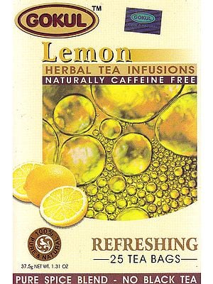 Lemon Herbal Tea Infusions Naturally Caffeine Free: Refreshing 25 Tea Bags