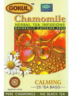 Chamomile Herbal Tea Infusions Naturally Caffeine Free: Calming 25 Tea Bags