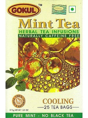 Mint Tea Herbal Tea Infusions Naturally Caffeine Free: Cooling 25 Tea Bags
