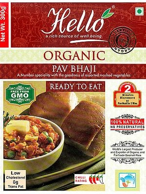 Organic Pav Bhaji (A Mumbai Specialty with the Goodness of Assorted Mashed Vegetables Ready to Eat)