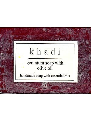 Khadi Geranium Soap With Olive Oil