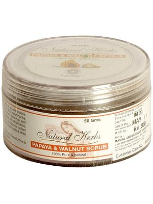 Natural Herbs Papaya & Walnut Scrub