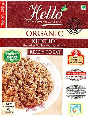 Organic Khichdi (Dish made of Rice, Pulses and Organic Spices) (Ready to Eat)
