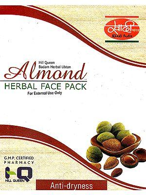 Hill Queen Badam Herbal Ubtan Almond Herbal Face Pack (For External Use Only)