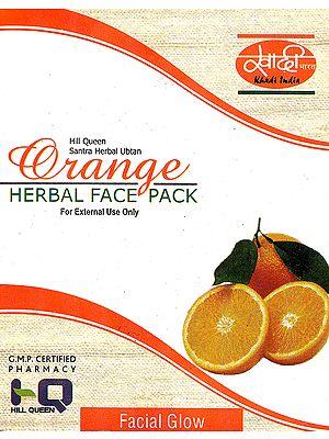 Hill Queen Santara Herbal Ubtan Orange Herbal Face Pack (For External Use Only)