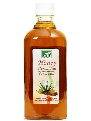 Mauri Honey Herbal Sat (Ayurvedic Shampoo) For Normal Hair