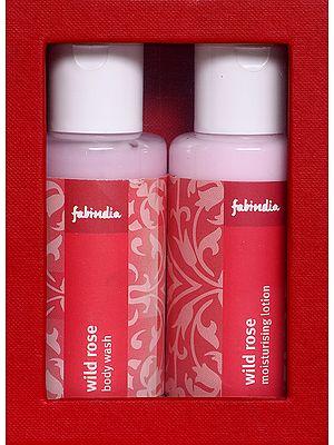 Fabindia Pack of Wild Rose body wash & Moisturising Lotion