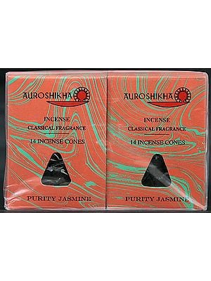 Auroshikha Incense Classical Fragrance 14 Incense Cones Purity Jasmine