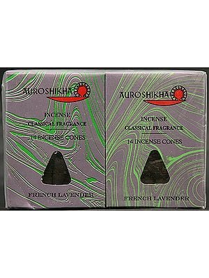 Auroshikha Incense Classical Fragrance 14 Incense Cones French Lavender