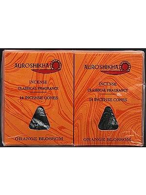 Auroshikha Incense Classical Fragrance 14 Incense Cones Orange Blossom