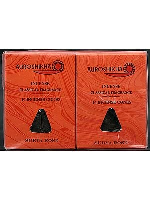 Auroshikha Incense Classical Fragrance 14 Incense Cones Surya Rose
