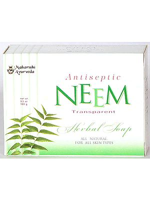 Antiseptic Neem Transparent Herbal Soap (All Natural for All Skin Types) (Price per Pair)