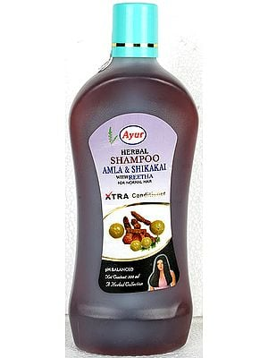 Ayur Herbal Shampoo (Amla & Shikakai with Reetha) For Normal Hair