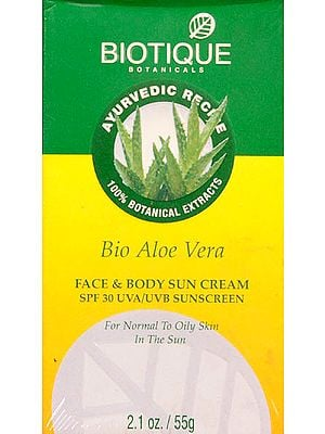 Bio Aloe Vera - Face & Body Sun Cream SPF 30 UVA/UVB Sunscreen