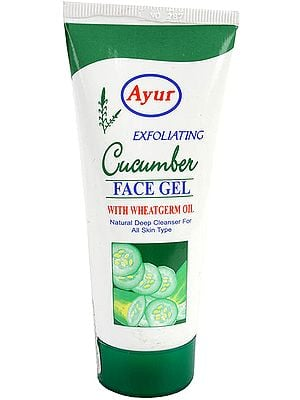 Exfoliating Cucumber Face Gel (With Wheatgerm Oil)