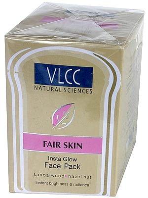 Fair Skin - Insta Glow Face Pack (Sandalwood, Hazel Nut)