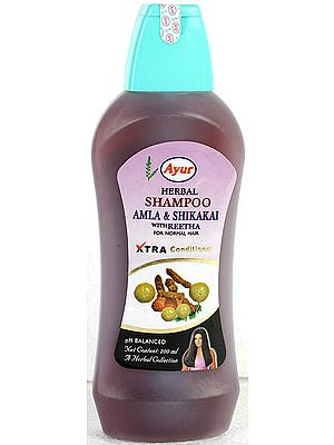 Herbal Shampoo Amla & Shikakai with Reetha (For Normal Hair)