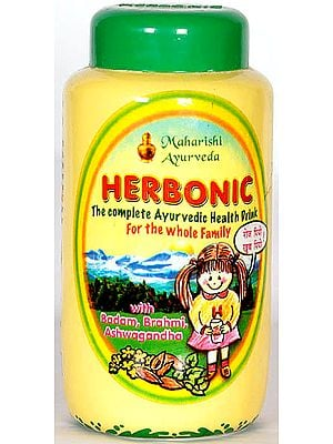 Herbonic (The Complete Ayurvedic Health Drink For the Whole Family with Badam, Brahmi, Ashwagandha)