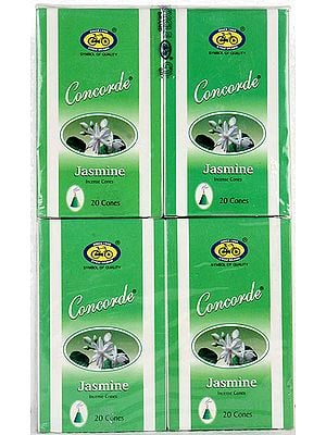 Jasmine Incense Cones - Concorde (Pack of 4 Packets)