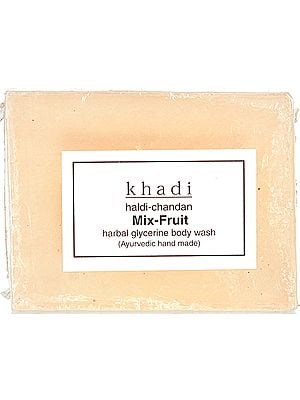 Khadi Haldi-Chandan Mix-Fruit Herbal Glycerine Body Wash (Ayurvedic Hand Made) (Price Per Pair)
