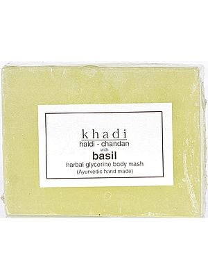 Khadi Haldi-Chandan With Basil Herbal Glycerine Body Wash (Ayurvedic Hand Made) (Price Per Pair)