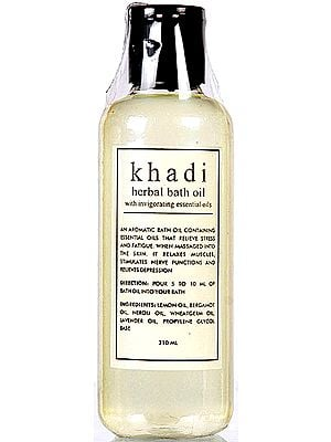 Khadi Herbal Bath Oil With Invigorating Essential Oils
