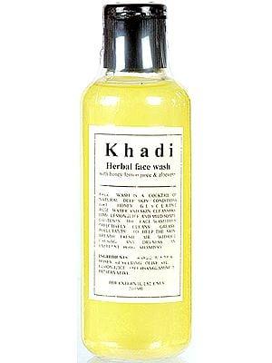 Khadi Herbal Face Wash with Honey Lemon Juice & Aloevera